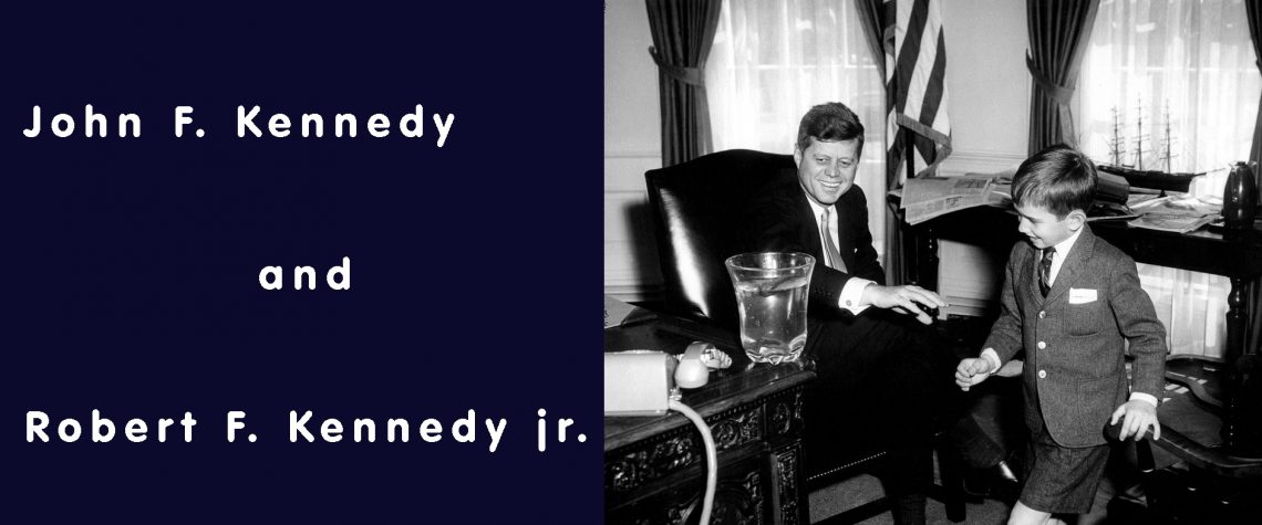 John F. Kennedy and Robert F. Kennedy jr