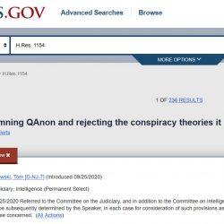 Resolution H Res 1154 des Repräsentantenhaus ist gegen Qanon gerichtet